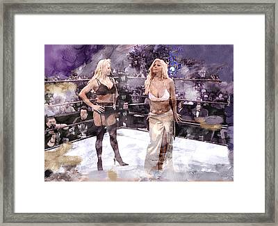 Wwe Wrestling 346 Framed Print