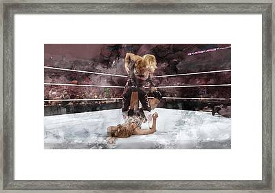 Wwe Wrestling 45 Framed Print
