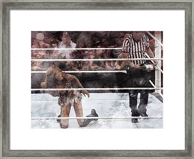 Wwe Wrestling 52 Framed Print