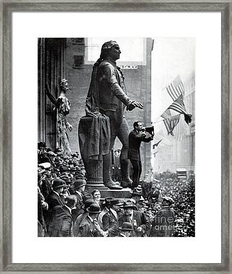 Wwi, Douglas Fairbanks Aids 3rd Liberty Framed Print by Science Source
