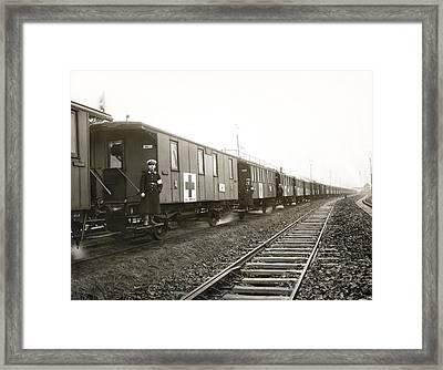 Wwi German Hospital Train Framed Print