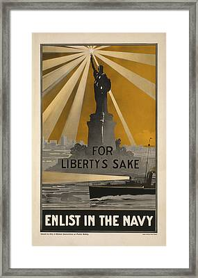 Wwi Recruitment Poster Framed Print by Underwood Archives
