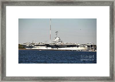 Wwii Aircraft Carrier Uss Yorktown Framed Print