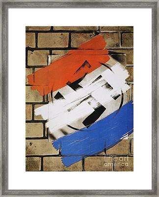 Wwii: Anti-nazi Poster, 1944 Framed Print