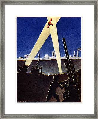 Wwii Antiaircraft Guns Of Finland Framed Print by Historic Image