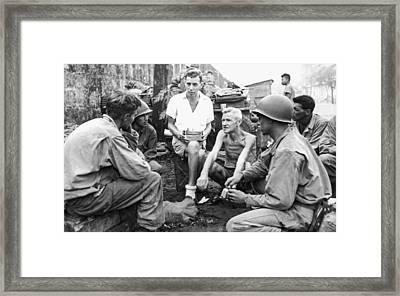 Wwii Bilibid Pow Camp Framed Print