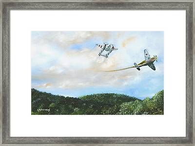 Wwii Dogfight Framed Print
