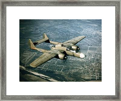 Wwii, Northrop P-61 Black Widow, 1940s Framed Print by Science Source