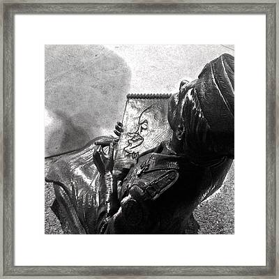 World War II Nurse Sketching Bob Hope Framed Print by D Renee Wilson