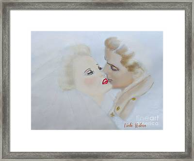 Wwii Soldier And Bride Framed Print