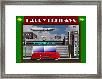 Wyandotte Happy Holidays Framed Print by Stuart Swartz