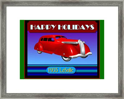 Wyandotte Lasalle Happy Holidays Framed Print by Stuart Swartz