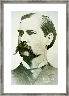Wyatt Earp Framed Print by American School