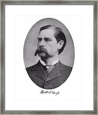 Wyatt Earp Autographed Framed Print by John Feiser