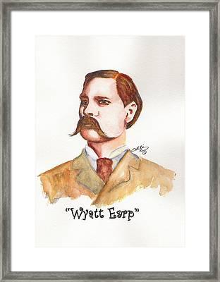 Wyatt Earp Framed Print by Cheri Meyer