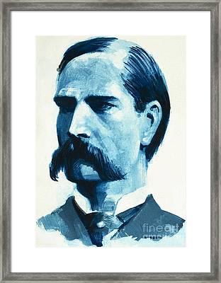 Wyatt Earp Framed Print by English School