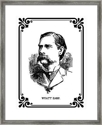 Wyatt Earp Newspaper Portrait  1896 Framed Print