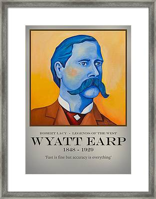 Wyatt Earp Poster Framed Print by Robert Lacy