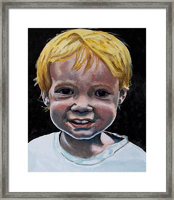 Framed Print featuring the painting Wyatt by Jean Haynes