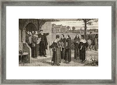Wyclif Sending Out His Poor Priests Framed Print