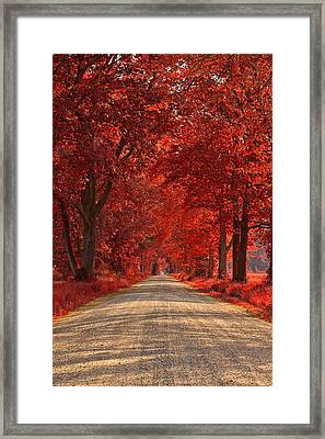 Wye Island Ruby Road Framed Print