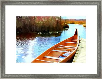 Framed Print featuring the digital art Wye Marsh  by Margaret Hormann Bfa