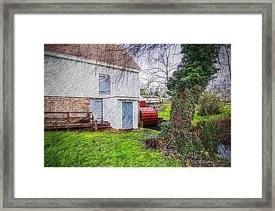 Wye Mill - Waterwheel Framed Print by Brian Wallace