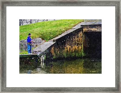 Wye Mills Fisherman Framed Print by Brian Wallace