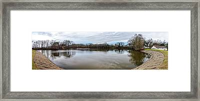 Wye Mills Lake - Pano Framed Print by Brian Wallace