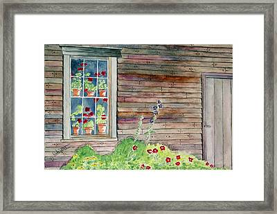 Wyeth House In Tempera Paint Framed Print by Larry Wright