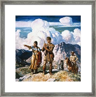 Wyeth: Sacajawea Framed Print by Granger