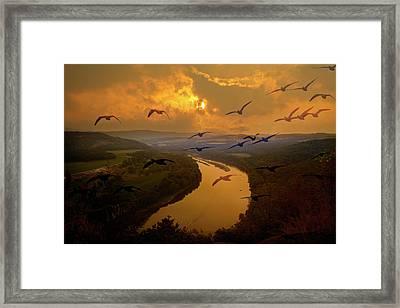 Wylausing Rocks Overlook Framed Print by David Simons