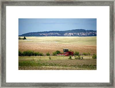 Wyoming August Farming 01 Framed Print by Thomas Woolworth