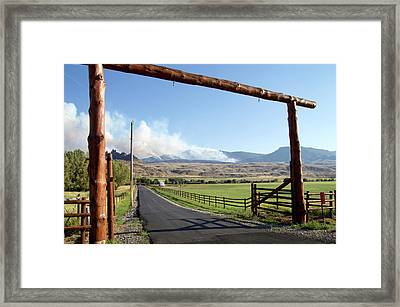 Wyoming August Forest Fires Framed Print by Thomas Woolworth