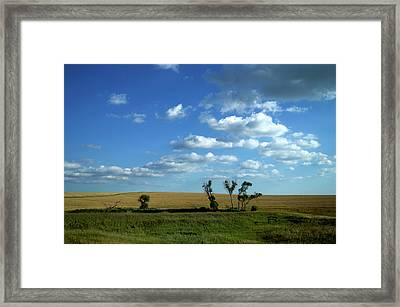 Wyoming Clouds Over The Ranch Framed Print by Thomas Woolworth
