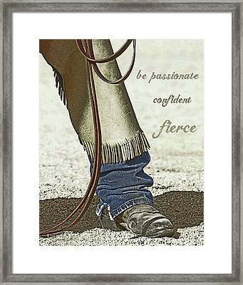Wyoming Fierce Framed Print