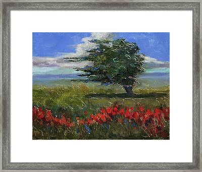 Framed Print featuring the painting Wyoming Gentle Breeze by Billie Colson