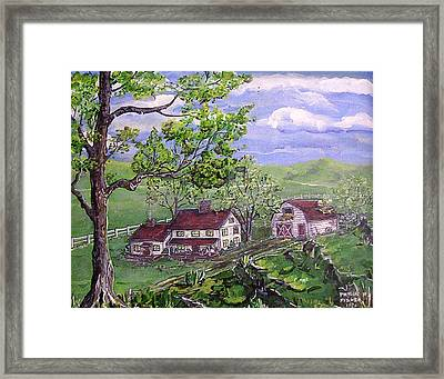 Wyoming Homestead Framed Print by Phyllis Mae Richardson Fisher