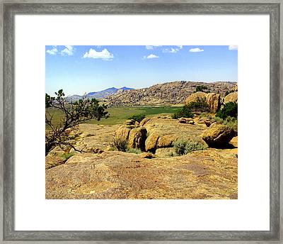 Wyoming Landscape Framed Print by Marty Koch