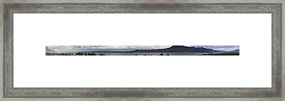 Wyoming Mountain Panorama Framed Print by Gregory Jeffries