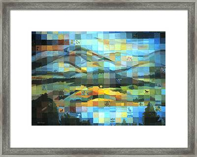 Framed Print featuring the painting Wyoming Quilt by Dawn Senior-Trask