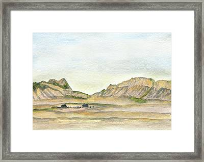 Wyoming Ranch Framed Print by R Kyllo