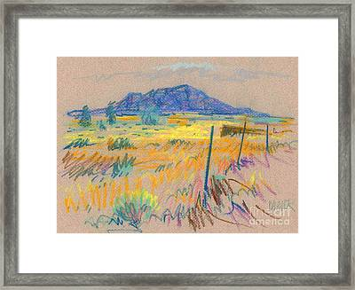 Wyoming Roadside Framed Print by Donald Maier