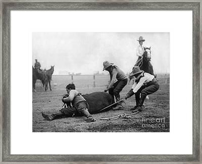 Wyoming: Rodeo, C1910 Framed Print by Granger