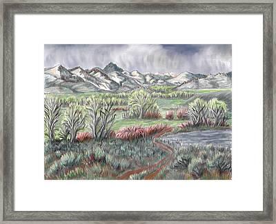 Wyoming Spring Framed Print
