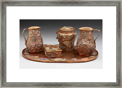 Framed Print featuring the sculpture Wyoming Wildflowers Bronze Set by Dawn Senior-Trask
