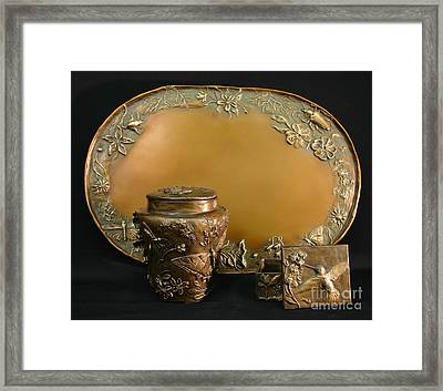 Wyoming Wildflowers Bronzes Framed Print by Dawn Senior-Trask