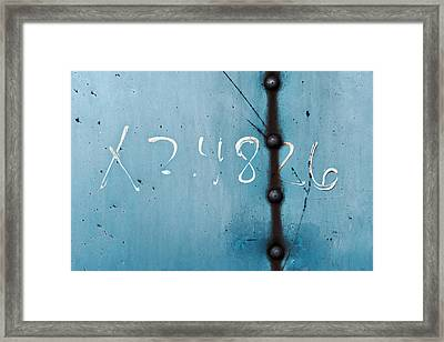 X 2.4826 ...slate Blue Framed Print