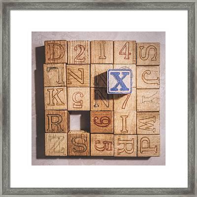 X Blocks Framed Print