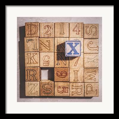 Wooden Alphabet Blocks Framed Prints
